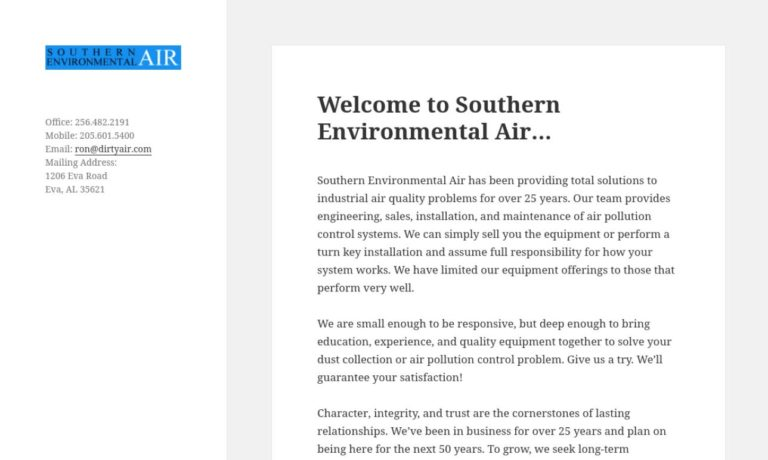 Southern Environmental Air, Inc.