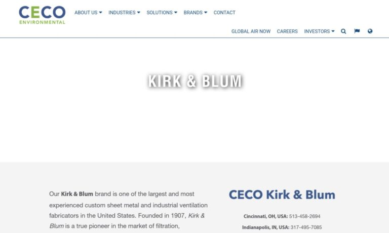 Kirk & Blum Manufacturing Company