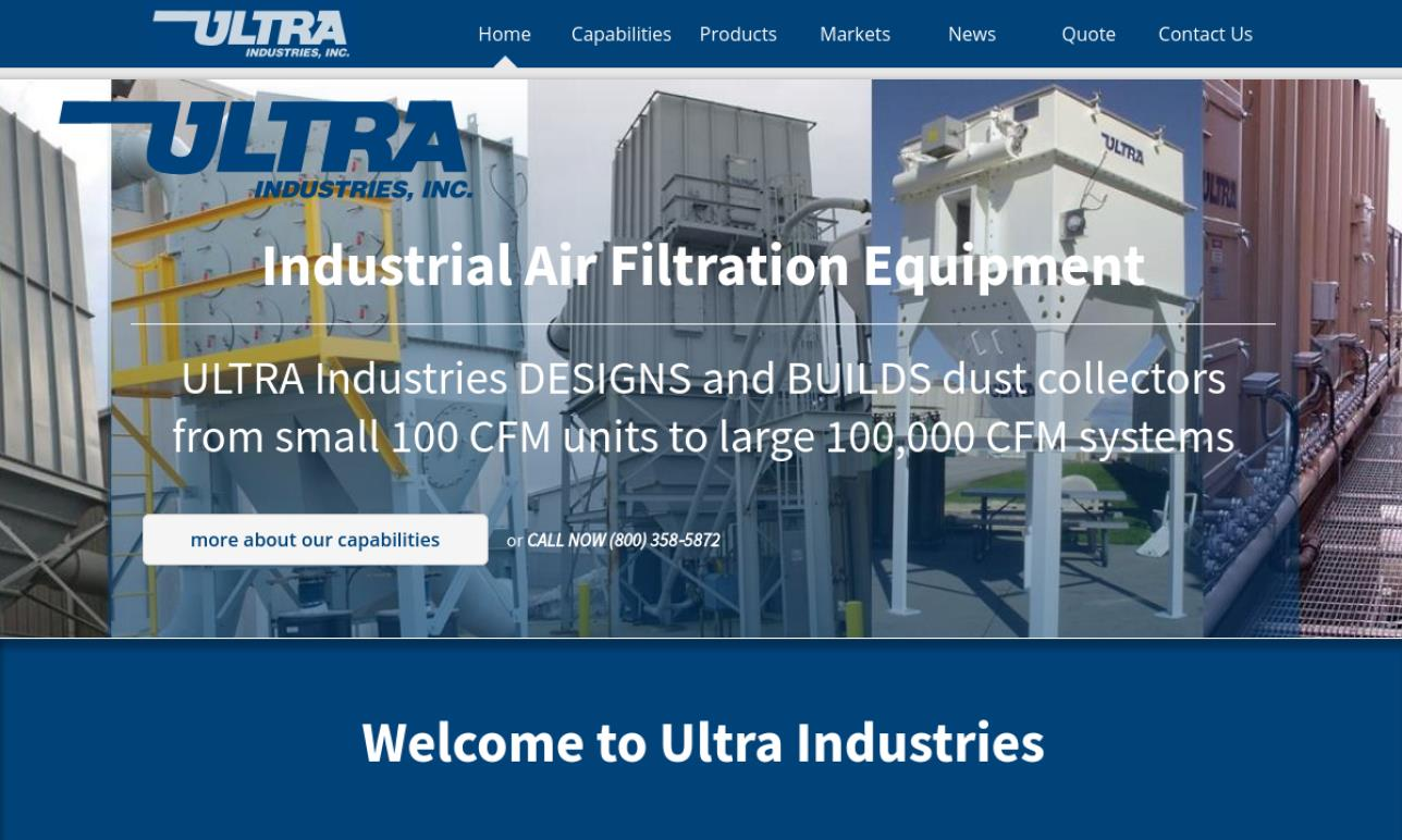 Ultra Industries, Inc  | Dust Collecting Systems
